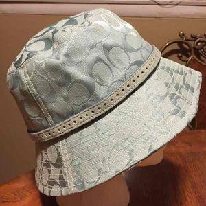 Baby blue Coach bucket hat